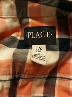 The Childrens Place Boys lot of 2 .Long Sleeve Plaid Button Down Shirt Sz SM 5/6