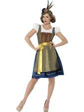 Deluxe Traditional Bavarian Oktoberfest Costume, Beer Girl Costume, Size S