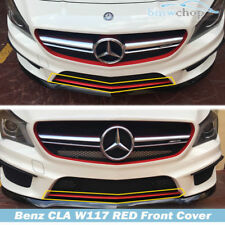Painted Red Mercedes Benz CLA W117 4D Sedan Front Bumper Lip Cover Sport