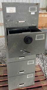 Vintage Mosler SF-C5 5 Drawer File Cabinet Combination Lock Safe/File