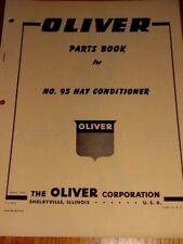 Oliver Parts Book No.95 Hay Conditioner