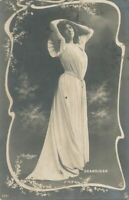 Grandjean - French Operatic Soprano Reutlinger Real Photo Postcard rppc - 1906
