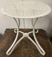 Tabouret Salon de Jardin Fer Tôle Ancien Chaise Fauteuil Table 1900