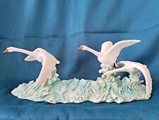 "Andrea by Sadek Rare Fine Porcelain Figurine ""Swans"""