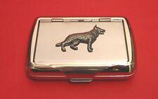 German Shepherd Tobacco Tin Trinket Box Alsatian Dog Smoker's Christmas Gift