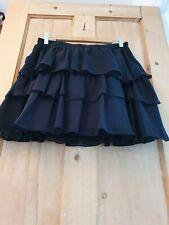 Black Chiffon Rara Skirt 12 Frilled Boho Gothic Gypsy Layered Tiered Cosplay