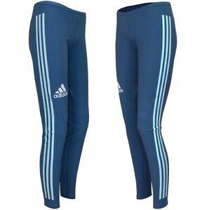 Adidas Damen Ski Langlauf Hose X-Country Long Tight Biathlon Pant Laufhose Blau
