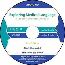 Audio CDs for Exploring Medical Language by Myrna LaFleur Brooks and Danielle...