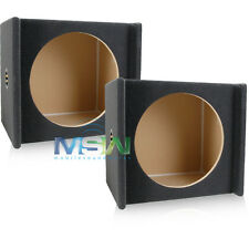 """(2) MDF DOWNFIRE CAR SUB WOOFER ENCLOSURE BOXES for STANDARD SIZE 15"""" SUBWOOFERS"""