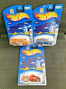 Hot Wheels 2003 First Editions 1969 Pontiac GTO - 1968 Mustang - Ford F-150