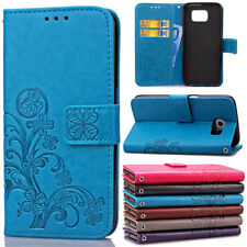 Luxury Clover Leather Card Holder Flip Stand Case For Samsung Galaxy Note 3 4 5