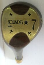 Sounder Genuine USA Persimmon 7 Wood Head  Golf Component 204 Grams LH