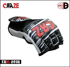 Sparring Grappling Boxing Gloves MMA Fight Punch Ultimate Bag Mitts PU Leather