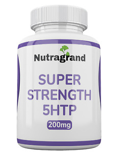 """""""5-htp"""" 200mg Stress Anxiety Depression Sleep Support 6 Month to 1 Year supply"""