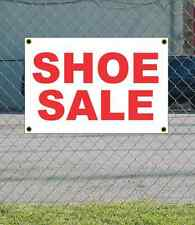2x3 SHOE SALE Red & White Banner Sign NEW Discount Size & Price FREE SHIP