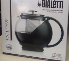 Bialetti Glass Tea Pot- Press With Plastic Handle For Loose tea Leaves
