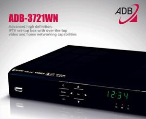 ADB 3721WN High Definition IPTV Receiver - Brand New includes PSU RCU Cables