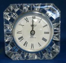 Mikasa Crystal Westminster Clock Quartz Austria Battery Operate Stand Mantel fr2