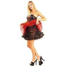 "Knee Length Women 21"" Black Crinoline Full Figure XL Petticoat Lace Tulle Slip"