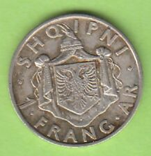 nsw-leipzig Albania 1 Frang Ar 1935 in DP, Sweet Patina, cute