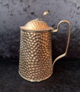 Vintage Beldray Hammered Copper Lidded Jug