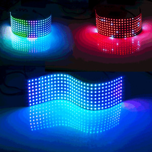 WS2812B RGB 64-576Pixel Flexible Digital LED Panel Individuell Adressierbar DC5V