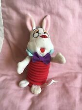 Mc Donalds Classic Collection Alice in Wonderland WHITE RABBIT Springy Toy