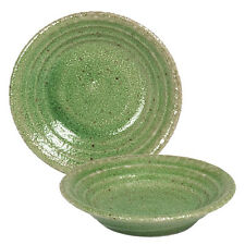 "4 Pcs. Japanese 3.25"" Sushi Soy Sauce Dipping Dishes Green Swirl, Made in Japan"