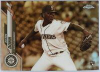 2020 Topps Chrome Justin Dunn SEPIA REFRACTOR Rookie Card #136 Mariners Pitcher