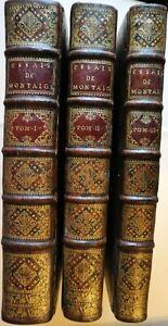 LES ESSAIS DE MICHEL SEIGNEUR DE MONTAIGNE - 1725
