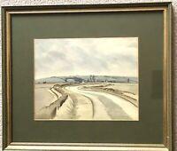 Original Watercolor Painting 1921 Signed EDWARD VULLIAMY 1876-1962 Rural Scene
