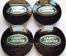 Land Rover, 4 X, Center Cap, HubCap, Black Oval, Green Chrome Logo, 63MM, # 7
