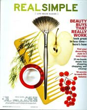 2010 Real Simple Magazine: Beauty Buys That Really Work/21 No-Hassle Meals