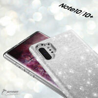 Silver Glitter Bling TPU Jelly Gel Case Cover For Samsung Galaxy Note 10 Plus