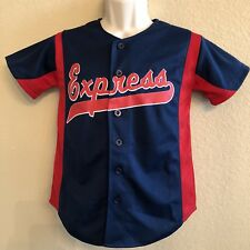 Round Rock Express #10 Baseball Jersey Small Blue Red Button Up