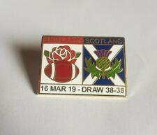 ENGLAND VS SCOTLAND RUGBY BADGE CALCUTTA CUP 2019