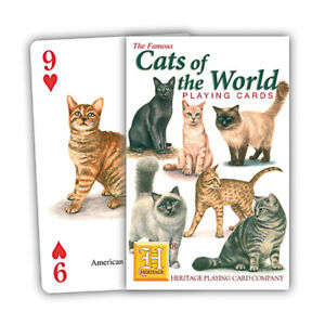 Cats of the World Playing Cards by Heritage Playing Cards