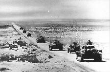1930s-40s (6 x 4) Repro German Combat Rp- Dak- Africa- Panzer Column Move Forwad