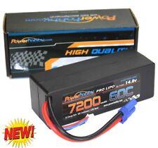 PowerHobby 4S 14.8V 7200mAh 60C-120C Lipo Battery EC5 Plug 4-Cell Hard Case