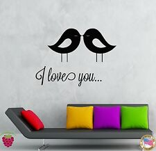 Wall Stickers Vinyl Decal Quote I Love You Romantic Decor  (z2040)