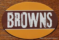 Cleveland Browns Oval Car Magnet Made In The Usa Football Sports Waterproof