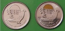 2011 Canada Falcon Colored and NonColored Quarters From Mint Rolls