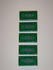 NEW LEGO CITY TOWN CASH MONEY BILLS $100 = $500 BANK