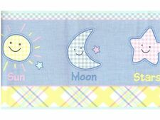 NEW 2 PACKAGES WALLPAPER BORDER KIDS II SUN MOON AND STARS 30 FEET