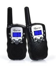 Upgrow Black Kids Walkie Talkies 8 Channel 2 Way Radio Wireless T388 Black