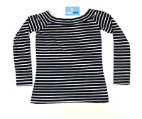 Atmosphere Womens Size 12 Striped Cotton Blend Blue White Top (Regular)