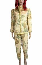 Womens Vtg 80s Festival Victorian Tapestry Floral Jacket Trousers Suit sz 16 N1
