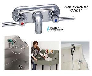 Master Equipment PRO PET GROOMING GROOMER TUB BATH CHROME FAUCET Bather Bathing