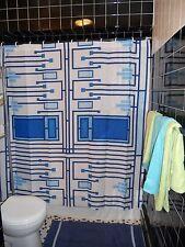 Frank Lloyd Wright Blue Digital Image  Shower Curtain