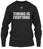 Bass Player Timing Is Everything Music - Gildan Long Sleeve Tee T-Shirt